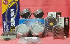 YCP 75mm Vitara Pistons Teflon Coated Low Comp + Rings +Bearings Honda D16 Turbo