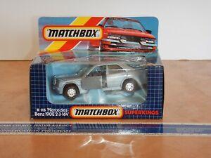 1986 MATCHBOX SUPER KINGS K-115 MERCEDES BENZ 190E 2-3-16V, NOS