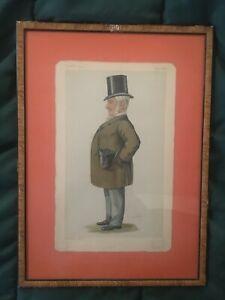 """Vanity Fair 12/4/1886 """"MATT"""" Signed LIB 14"""" x 19.5""""  Framed matted"""