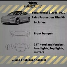 Tesla Model 3 2019 Rocker Panel Precut Kit Xpel Ultimate Plus Clear Bra