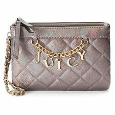 JUICY COUTURE $59 NWT IRIDESCENT PEWTER women's purse wristlet