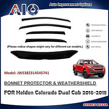 AD BONNET PROTECTOR & WEATHERSHIELD FOR HOLDEN Colorado Dual Cab 2016-2018