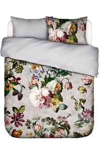 Essenza Dutch Masters Grey Floral 3-Pc Duvet Cotton Sateen Cover Set, King