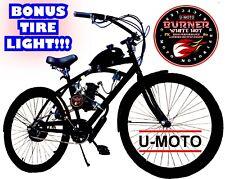 "New 66cc/80cc 2-Stroke Motorized Bike Kit With 26"" Bike Diy Power Cruiser"