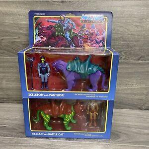 HE-MAN & BATTLE CAT SKELETOR & PANTHOR Set Super7 Reaction Masters of Universe