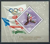 Hongrie Bloc N° 68** (MNH) 1967 - J.O de Grenoble