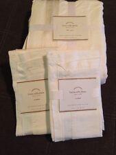 Pottery Barn White Linen Silk Full/Queen Duvet and 2 Standard Shams $297