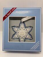 "New Wedgwood ""Snowflake"" 2019 Jasper Ware Christmas Tree Ornament Boxed 🎁"