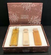 Eternity Moment Calvin Klein Gift Set Perfume Spray Body Lotion Shower Bath Gel