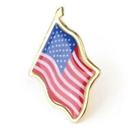 USA Flag America Pin Lapel Badge Independence Day Gloss Enamel