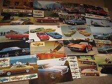 1971, 72, 73 Chevrolet Dealer Sales Brochure Lot (20) Camaro, Corvette, Chevelle