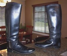 "Men's Black Calf Leather 20"" Tall Dehner's Motorcycle Riding BOOTS 11.5 - 12"