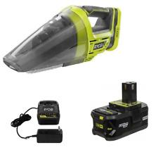 Ryobi P7131 ONE+ 18-Volt Lithium-Ion Cordless Hand Vacuum + P197 Battery & P118B