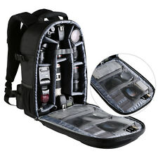 DSLE SLR Camera Backpack Bag Case Large Capacity For Canon Nikon Sony Waterproof