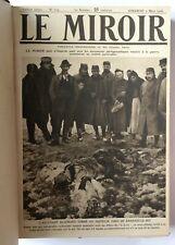 LE MIROIR 1916 Relié 39 Numéros Mars à décembre PREMIERE GUERRE MONDIALE WWI