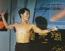 GEORGE TAKEI MR SULU SIGNED 8X10 COLOR PHOTO STAR TREK AUTOGRAPH