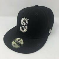 NWT 59Fifty New Era Fitted Baseball Hat Cap MLB Seattle Mariners Navy 7 3/8