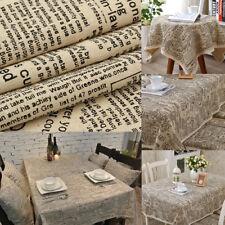 59x20'' English Newspaper Cotton Linen Fabric Table Pillow Craft DIY Home Decor