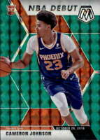 2019-20 Panini Mosaic Green 265 Cameron Johnson RC Rookie NBA Debut