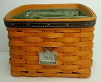 Longaberger 2002 Father's Day Daddy's Caddy Basket Combo w/ TV Tie On