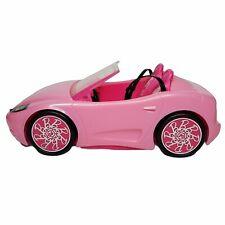 Barbie Doll Glam Pink Convertible Toy Car Mattel W/Seat Belts 2010