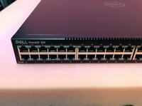 Force10 S55 Dell 44 port Gigabit Ethernet switch w/ 1 power supply 2 fans Used