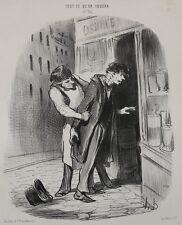 Honore Daumier France 1808-1879 J'veux a' boire!... Le Charivari 1849