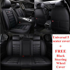 2019New Black Leather Car Seat Cover for Subaru Impreza Forester Outback Liberty