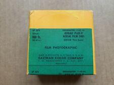 Super Mega RARE! Eastman KODAK PLUS-X B&W Aerial FILM 3401, Roll 100' 35mm