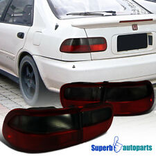 For 1992-1995 Honda Civic 2/4dr Coupe Sedan Tail Lights Brake Lamps Smoke/Red
