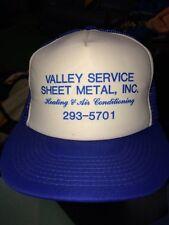 trucker hat baseball cap VALLEY SERVICE SHEET METAL HEAT AIR cool lid old school