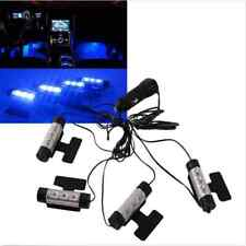 4PCS 3LED Floor Decorative Atmosphere Car Charge Interior Accessories Lamp Light