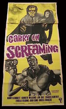 CARRY ON SCREAMING  /  MONSTERS  / 1966  /  BRITISH 3-SHEET POSTER  VG+   SCARCE