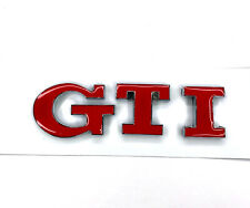 Red / Chrome Rear Trunk GTI Badge Emblem Letters Fits Volkswagen
