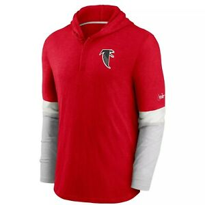 Atlanta Falcons Men's Nike Hooded Long Sleeve Henley Tee - NWT - FREE SHIPPING!