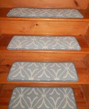 14 = Step 9'' x 27'' + 1 Runner 27'' x 60'' Stair Treads Wool Woven Carpet  .