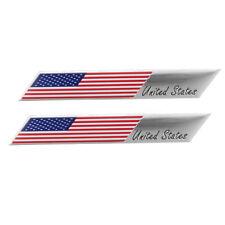 Metal US Flag Car Decal Sticker USA United States Fender Trunk Emblem Badge