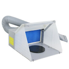 Portable Hobby Airbrush Paint Spray Booth Kit Exhaust Filter LED Light Set Model
