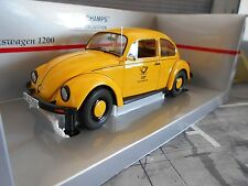 VW Escarabajo Volkswagen Beetle 1200 1983 amarillo Deutsche Post, DBP Minichamps 1:18