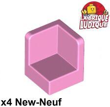 Lego - 4x Panel Panneau 1x1x1 Corner Coin rose clair/bright pink 6231 NEUF