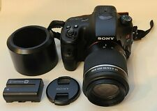 Sony Alpha SLT-A57 with DT SAM 55-200mm Lens - GREAT condition