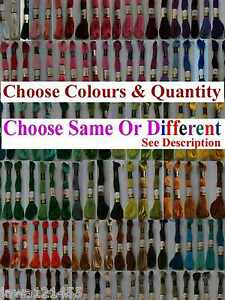 42 Anchor Cross Stitch Cotton Crochet Embroidery Thread Floss Skiens Choose Colr