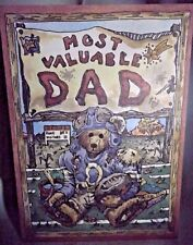 Boyds Bears Most Valuable Dad Happy Birthday Greeting Card B1G2F