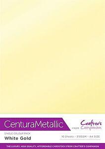 Centura Metallic Single Sided single Colour 10 Sheet Pack - 300GSM