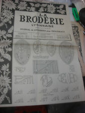 ANCIEN JOURNAL LA BRODERIE LYONNAISE 1940 - 1953 VINTAGE EMBROIDERY PATTERNS