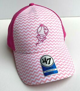 NY Mets Kids Adjustable Baseball Cap 47 Brand Girl Pink Hat New York Cartoon MLB