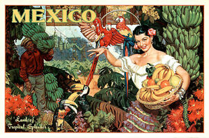 Mexico Travel Poster A2 High Quality Travel Poster