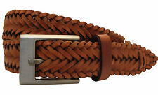 Leather Mens Belt Tan - (Large) 38-40 inches NEW  19632