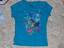 NWT- Hannah Montana SS sparkly turquise top - 4/5