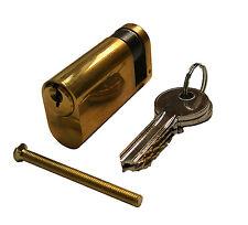 Oval Profile Half Cylinder Lock - 35mm / 10mm - Brass